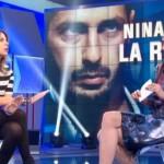Nina Moric a Domenica In: lite in diretta con Paola Perego